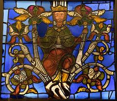 Fragment de verrière de la Basilique de Saint-Denis
