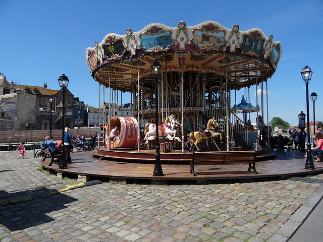 Carousel at the quay in Honfleur