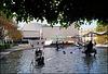 Wasserspektakel genau am Platz der Bühne des alten Stadttheaters mit Blick auf das neue Theater