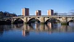 Dumbarton Bridge and the River Leven