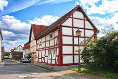 Trendelburg, Wohnhaus mit Märchenlaterne