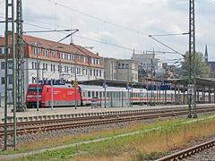 29 - IC mit DB 101 108-9 im Hbf Schwerin