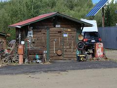 Goldgräberhütte in Chicken Town Alaska