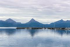 Norway. Hamarøy. Skutvik havn. Vestfjord.  201408