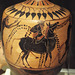 Detail of a Black-Figure Lekythos with Dionysos on a Mule in the Virginia Museum of Fine Arts, June 2018