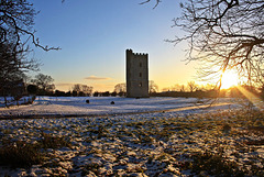 Winters evening at South Kyme tower