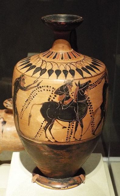 Black-Figure Lekythos with Dionysos on a Mule in the Virginia Museum of Fine Arts, June 2018