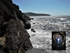 A tunnel towards the sea