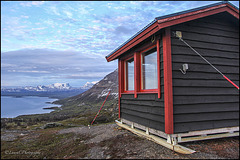 Refuge at the Midnight sun view point. Photo taken around midnight.