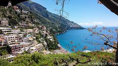Positano - View of Naples Bay from Hotel Poseidon 051814