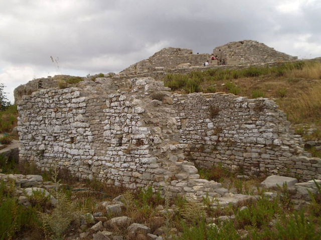 Ruins of Church of the Barbarian Mount (12th century).