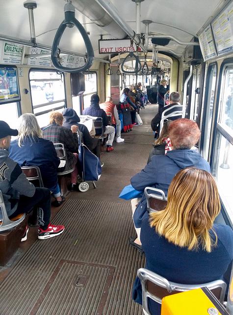 Turin 2017 – Inside tram 2852