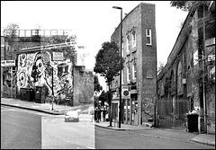 Slipped sprocket. Hinton Road, Coldharbour Lane Brixton.