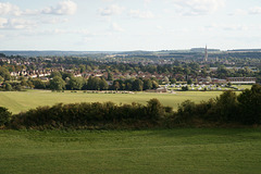 View Over Salisbury From Old Sarum