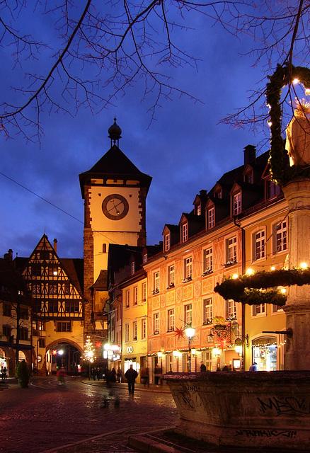 In der Blauen Stunde in Freiburg, Schwabentor