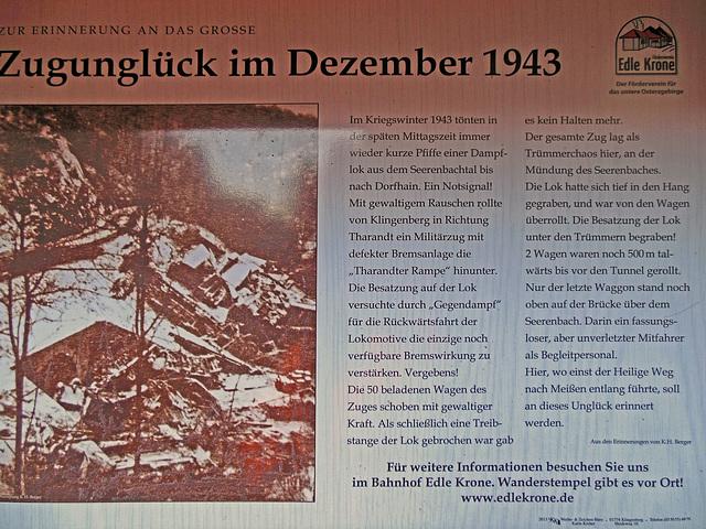 Zugunglück im Seerenbachtal bei Tharandt Dezember 1943