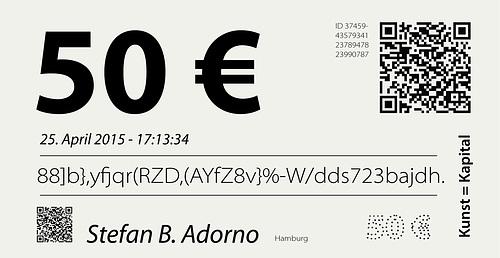 Mein Geld - 50 Euro Stefan B. Adorno