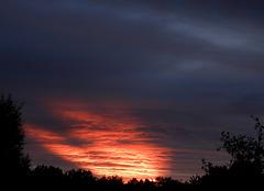 Strange narrow sunset