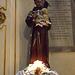 Statue of St. Francis in Santa Maria in Trastevere, June 2012