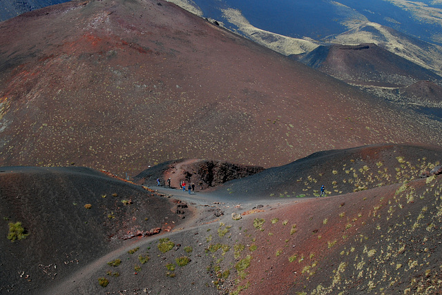 In der Vulkanlandschaft