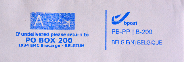 Belgian Postage Paid impression