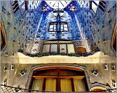 Barcellona : Casa Batlló - i quattro piani superiori visti dall'interno