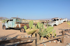 Namibia, Car Wreckages in the Desert of Namib