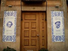 Tiles panels at the door of Tapas na Boca.