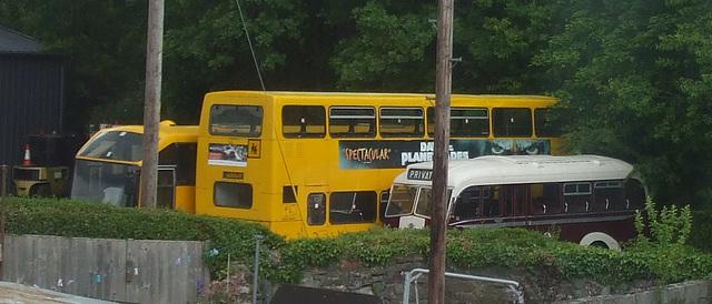 DSCF9978 Buses in a yard at Llanwrst