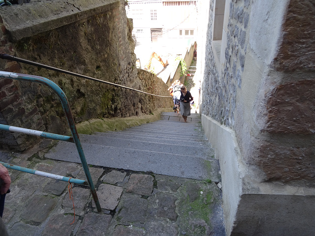 No need for gyms when you must hoist the stroller avec bebe daily up these stairs.