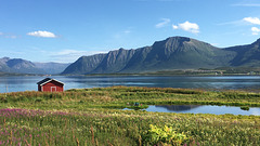 The red house by the fjord.