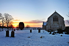 Winter sunset at St. Marys and All Angels ~ South kyme ~ Lincolnshire