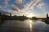Sonnenuntergang in Stockholm