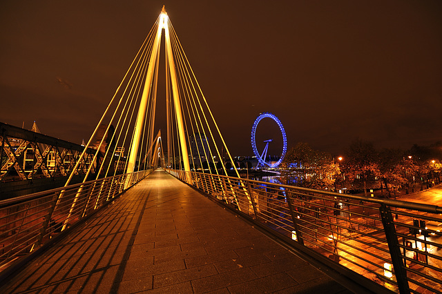 Jubilee Bridge and the London Eye