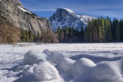 Snowy Yosemite Meadow