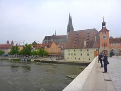 Regensburg - Blick auf Donau und Dom