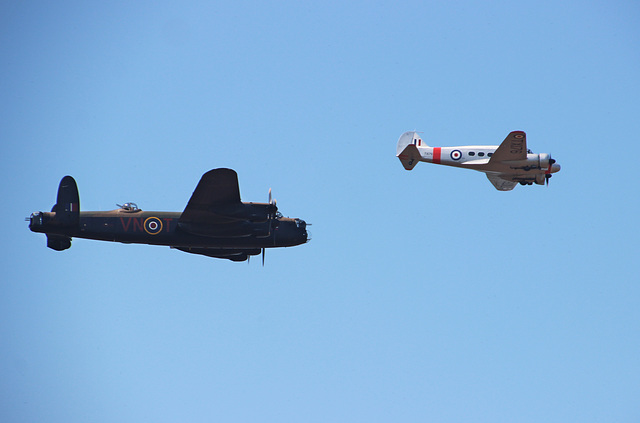 Avro Lancaster and Avro Anson ~ Shuttleworth Airshow 2018