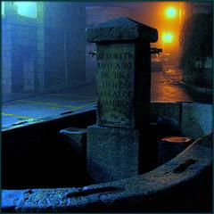 Hoyo de Manzanares, rainy night