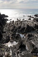 Rocky coast near Hartland Quay