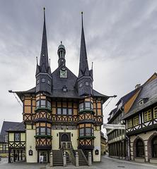 Wernigeröder Rathaus - ohne Marktstände ... :-)