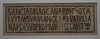 Votive Inscription from the Synagogue in Hamman-Lif in the Bardo Museum, June 2014