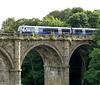 Knaresborough- Train on the Viaduct Over the River Nidd