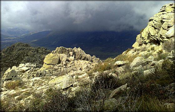 Sierra de La Cabrera, 2 minutes before the snow storm.