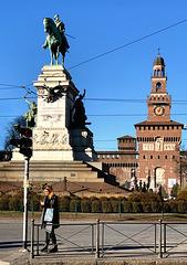 Piazza Castello fence