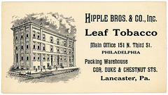 Hipple Bros. & Co., Inc., Leaf Tobacco, Philadelphia and Lancaster, Pa.