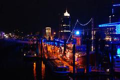 Hamburger Hafen Rot / Blau