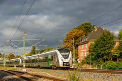 Regionalbahn der MRB (Mitteldeutsche Regiobahn) Richtung Chemnitz bei der Ausfahrt aus Hohenstein-Ernstthal