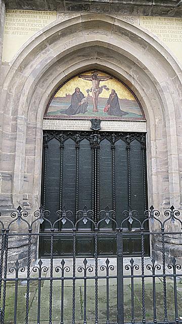 HFF - Portal der Schlosskirche in der Lutherstadt Wittenberg