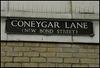 Coneygar Lane street sign