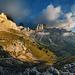 Sunrise In Rosengarten (Dolomites)